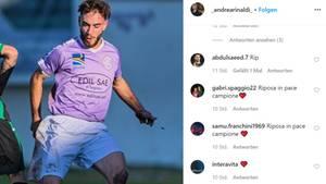 Andrea Rinaldi, 19, stirbt an Aneurysma - Beileidsbekundungen auf Instagram