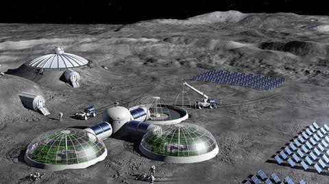 Konzept der Esa für eine Mondstation