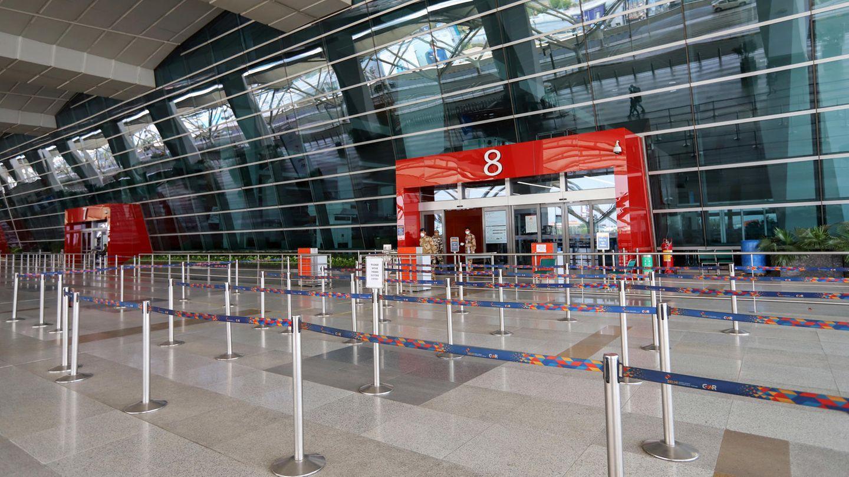 Der Flughafen in Indiens Hauptstadt Neu Delhi