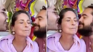 Kaulitz-Brüder mit ihrer Mutter