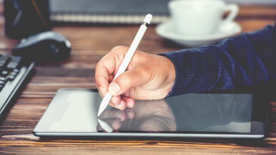 Tablet mit Stift