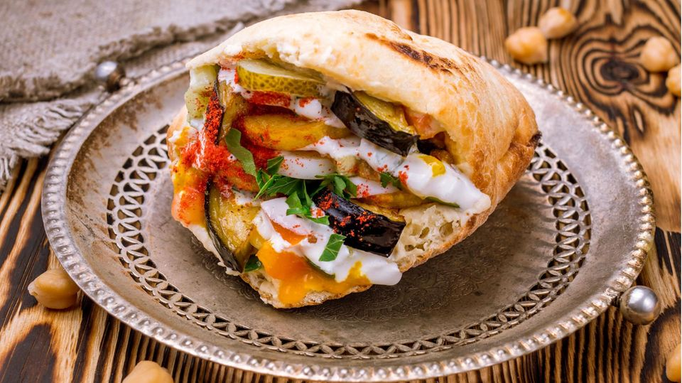 Sabich Sandwich