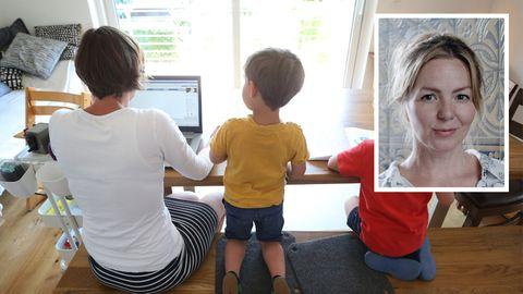 """Viele Eltern betreuen in Zeiten von Corona ihre Kinder zu Hause, neben dem Beruf. Schriftstellerin Simone Buchholz: """"Es geht vieles in die falsche Richtung."""""""