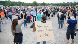 Protestkundgebung gegen Corona