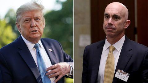 US-Präsident Donald Trump (l.) und der entlassene Generalinspekteur Steve Linick
