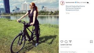 Vip News: Barbara Meier erntet Kritik für Fahrrad-Foto