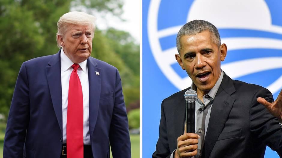 Barack Obama und Donald Trump üben öffentlich Kritik aneinander.