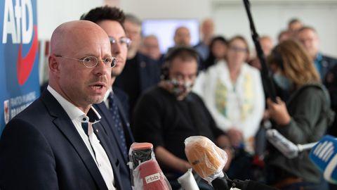 Andreas Kalbitz während einer Pressekonferenz der AfD Brandenburg