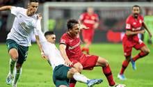 Hinspiel Bayer Leverkusen gegen Werder Bremen