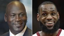 Michael Jordan und LeBron James