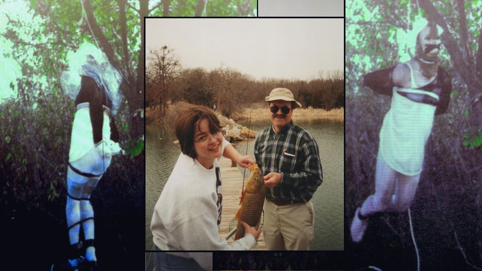 Dennis Rader mit seiner Tochter. Umrahmt von ihm, während der Inszenierung von Morden