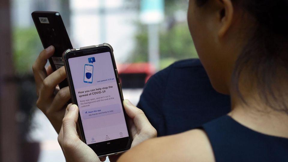 Singapurs Tracing-App TraceTogether ist bereis Ende März erschienen