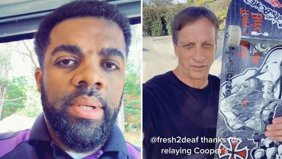 Georgia: Junger Tony Hawk-Fan bittet Fedex-Fahrer um Gefallen: Nun darf er sein großes Idol treffen