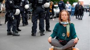 """""""Hygiene-Demo"""" in Berlin."""