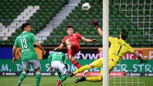 Bundesliga: Spielszene aus Bremen vs. Leverkusen - Die Sky-Konferenz kommt erneut im Free-TV