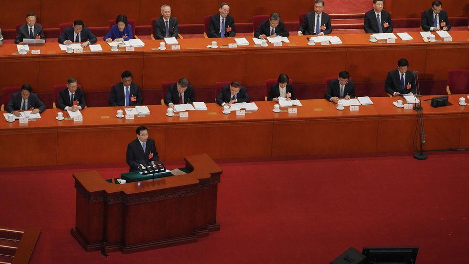 Peking, China: Eröffnung des Nationalen Volkskongresses