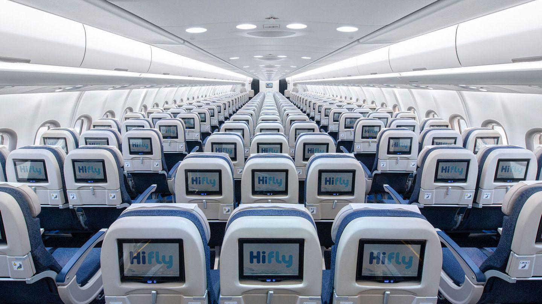 Ein Blick in die Kabine eines Airbus A330Neo