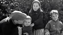Prinz William mit seinen drei Kindern.
