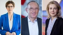 Annegret Kramp-Karrenbauer (CDU), Norbert Walter-Borjans (SPD), Linda Teuteberg (FDP)