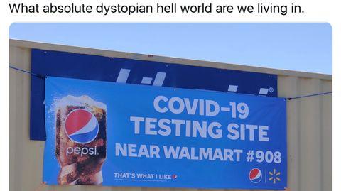 Die Pepsi-Plakatwerbung