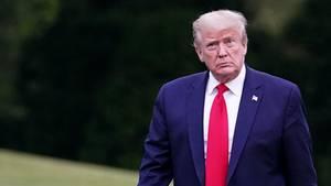 Donald Trump im Garten des Weißen Hauses