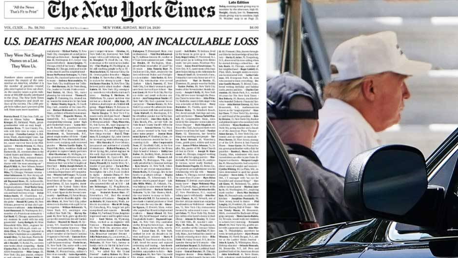 """New York Times""-Titelseite, US-Präsident Donald Trump"