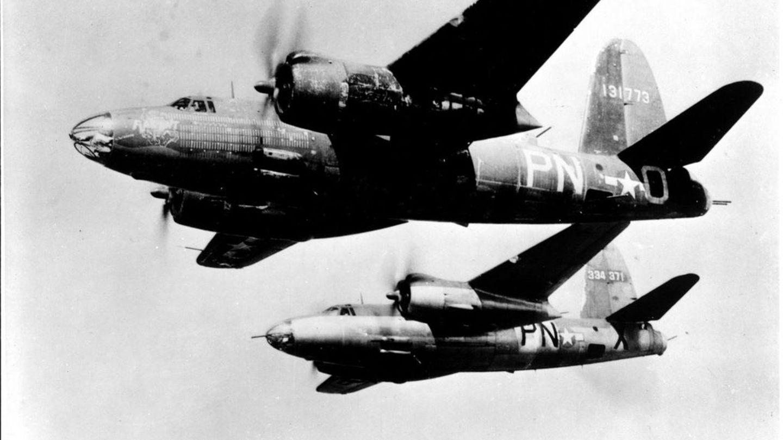Flak-Bait bei ihrem letzten Feindflug imApril 1945.