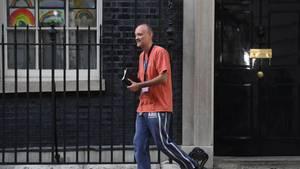 Dominic Cummings, Sonderberater des britischen Premierministers Johnson, verlässt die 10 Downing Street