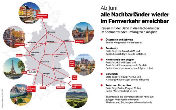 Verbindungen im Fernverkehr ab Juni