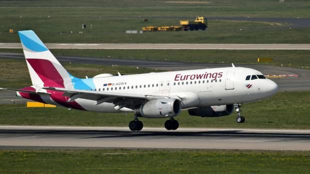 Durfte am Samstagin Olbia auf Sradinien nicht landen: Ein Airbus von Eurowings