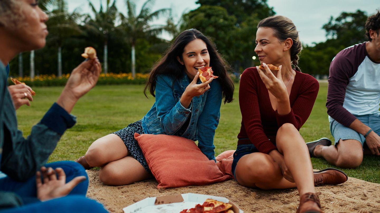 Picknick mit Pizza