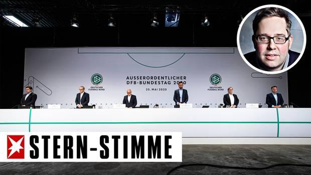 Die Fortsetzung der Drittliga-Saison ist kein Sieg für den Fußballbund, findet stern-Stimme Philipp Köster