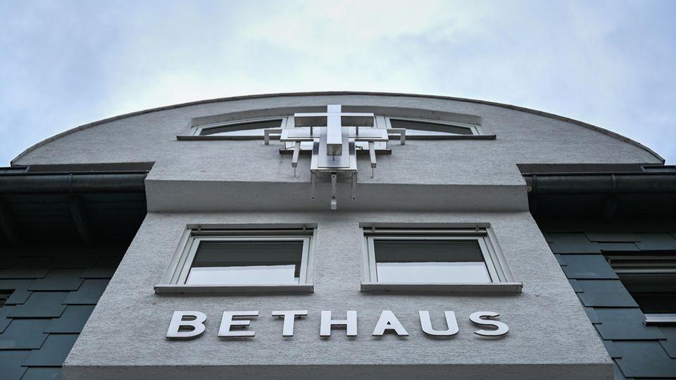 Coronavirus: Fassade des Bethauses in Frankfurt