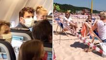 Im Flugzeug und am Strand testet der Reporter, wie der Urlaub 2020 aussehen könnte.
