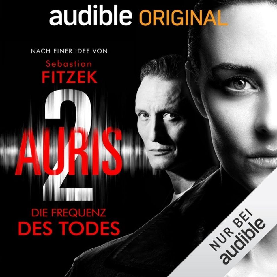 Sebastian Fitzeck/Vincent Kliesch: Auris-2. Länge: sieben Stunden. Gelesen und gespielt von: Oliver Masucci, Luise Wieztoreck und Simon Jäger.