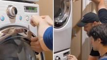 """Der Musiker Kurt Schneider spielt auf einer Waschmaschine """"Take on me"""""""
