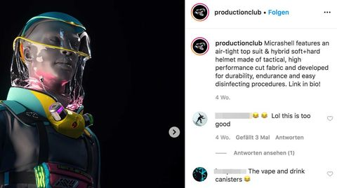 Der kuriose Anzug auf Instagram abgebildet