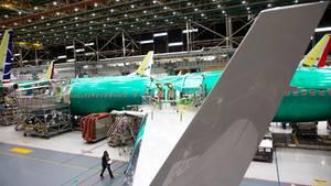 Boeing 737 MAX-Produktion in Renton, Washington