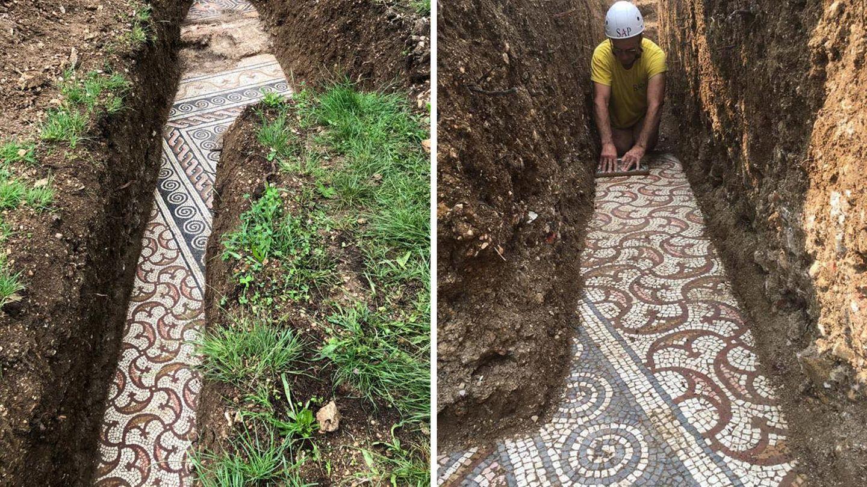 Negro: un sitio de mosaicos romanos fue descubierto a una profundidad de metros bajo viñedos italianos