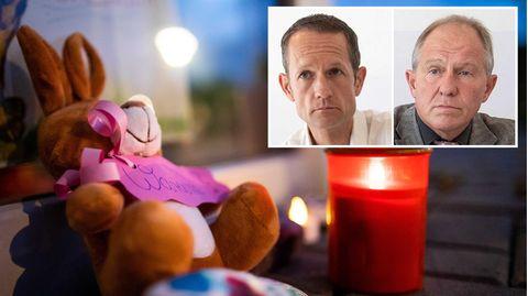 Trauer an Kita in Viersen, eingeklingt: Mordkommissionsleiter Guido Roßkamp (l.) und Staatsanwalt Lothar Gathen