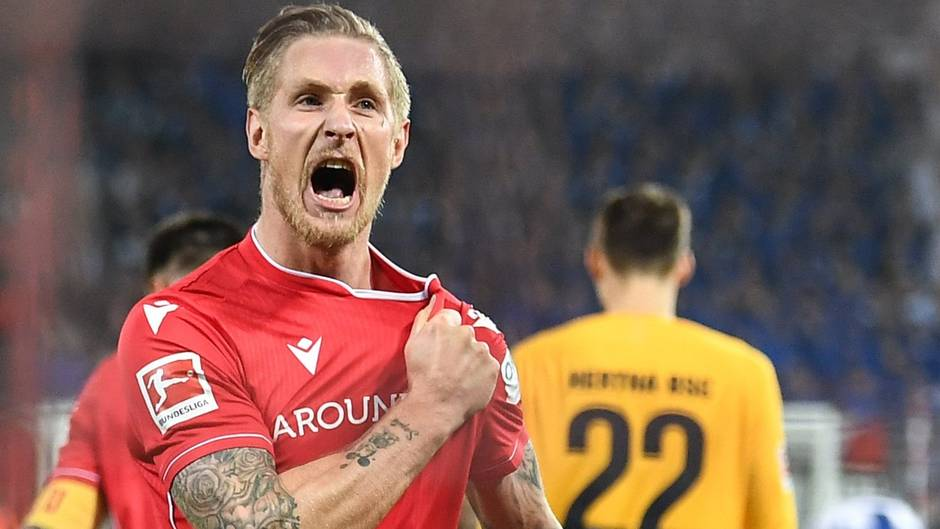 Im Herbst 2019 war Sebastian Polter noch umjubelter Siegtorschütze imStadtderby gegen Herthy BSC