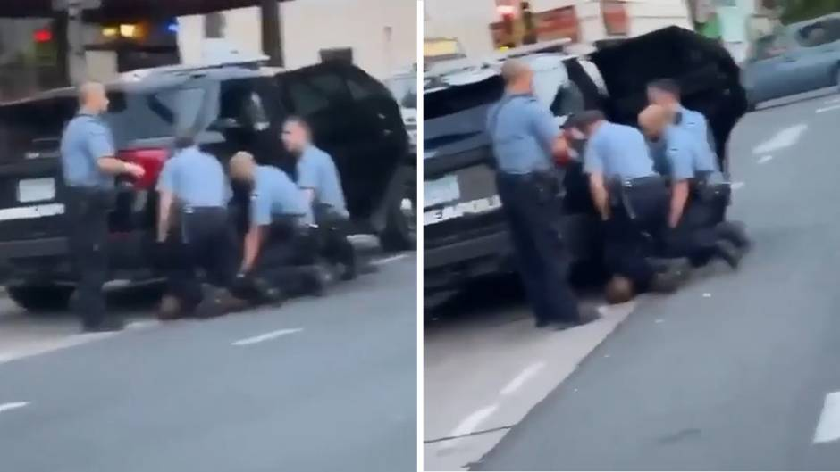 Neues Video aufgetaucht: Drei statt nur einem Polizisten knieten auf George Floyd