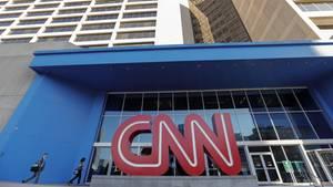 Atlanta: Das Gebäude des Nachrichtensenders CNN. Vom einst belächelten Nischenprojekt brachte es der - oft genug umstrittene - Sender es zum Feindsymbol des Präsidenten.