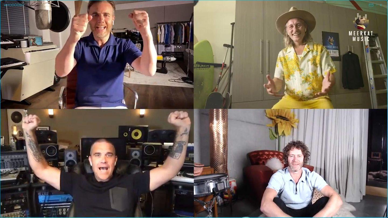 Robbie Williams singt mit Take That