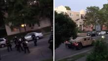 Mineapolis: Aufmarsch der Polizei