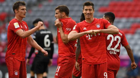 Übermacht in Rot: Robert Lewandowski und seine Mitspieler ließen Fortuna Düsseldorf nicht den Hauch einer Chance