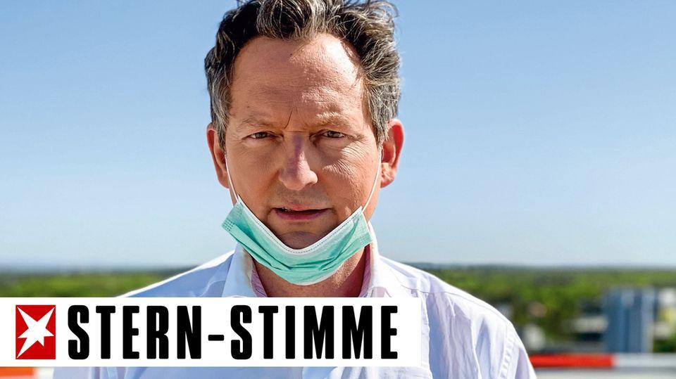 Dr. Eckart von Hirschhausen besucht die Uniklinik Bonn.