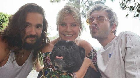 Heidi Klum mit Bill und Tom Kaulitz an ihrem Geburtstag