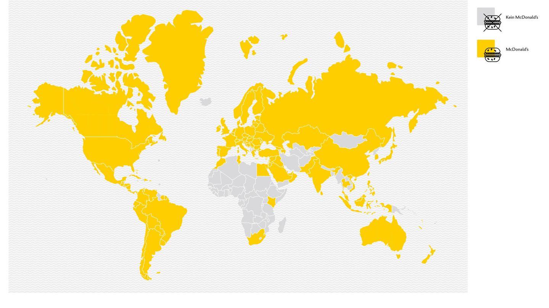 Länder ohne eine McDonald's-Filiale