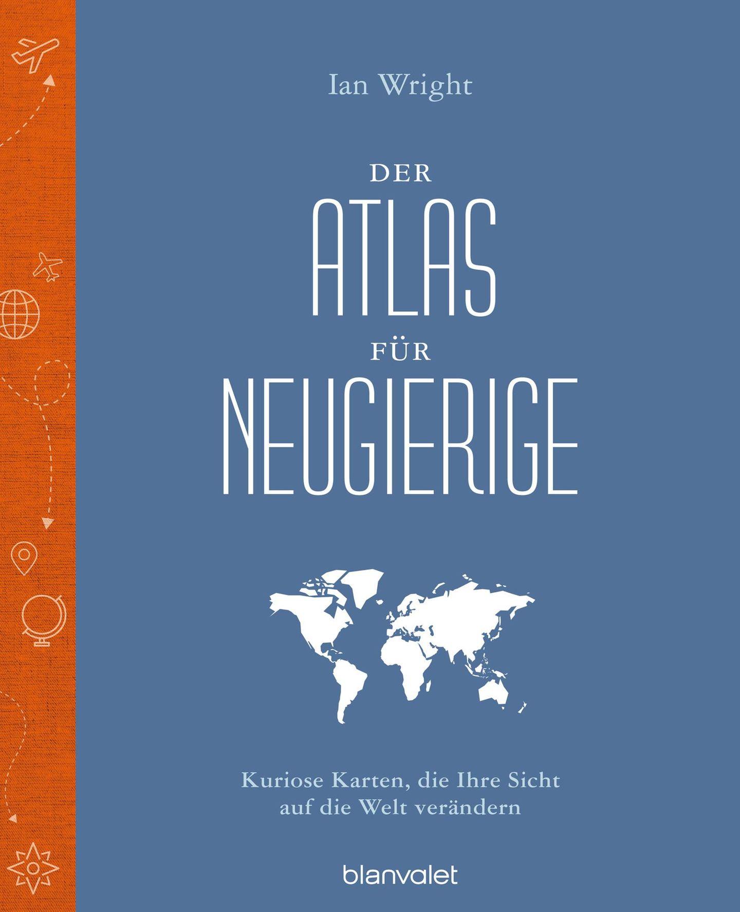 """Aus: """"Der Atlas für Neugierige - Kuriose Karten, die Ihre Sicht auf die Welt verändern""""vonIan Wright. Erschienen bei Blanvalet,. 240 Seiten, Preis: 24 Euro."""